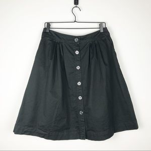 TRINA TURK Button Front Fit & Flare Skirt